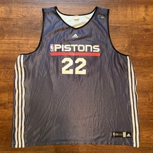 ADIDAS DETROIT PISTONS NBA OFFICIAL Warm up Jersey